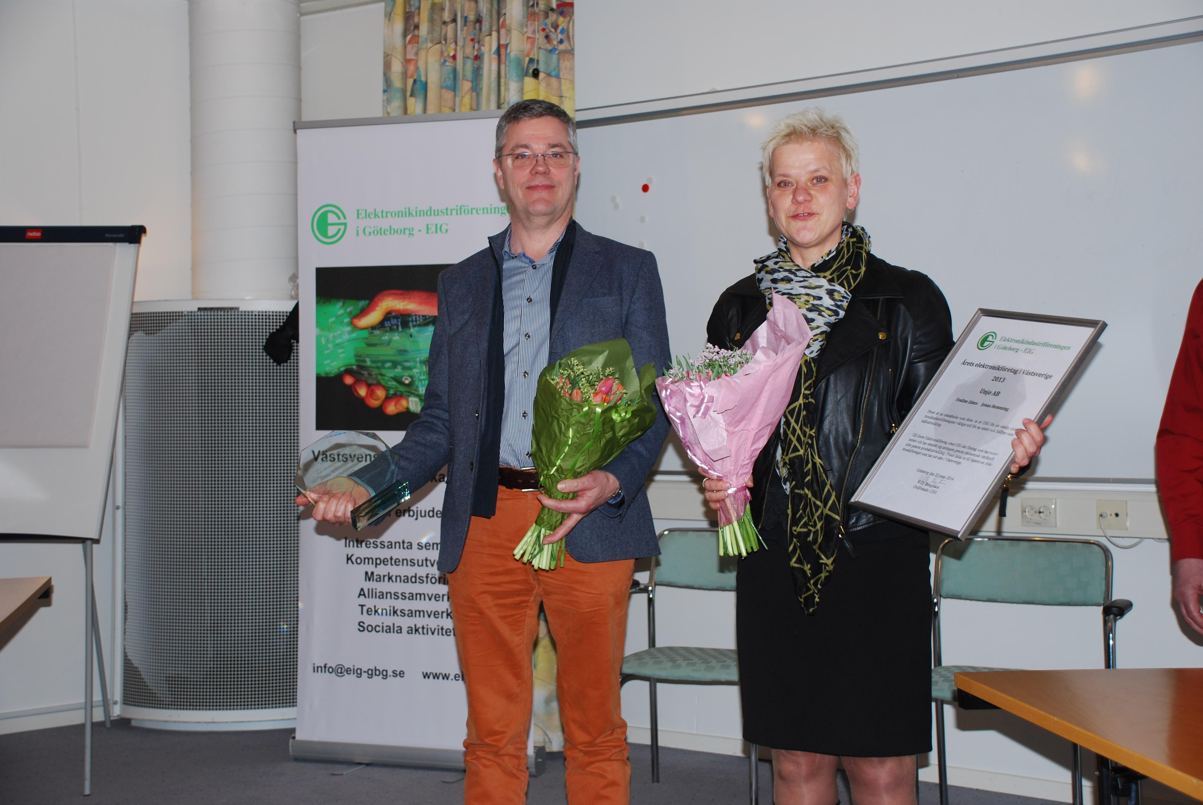 Undine Jänes och Jonas Hemming